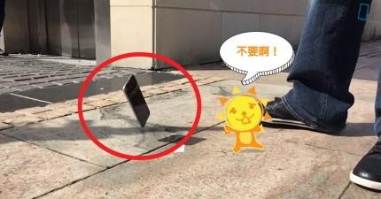 來看看這個人把iPhone 6 和 iPhone 6 Plus 丟在地上測試防摔。心在滴血...