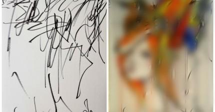 母親讓她的2歲女兒幫她畫出這些超有創意的傑作。