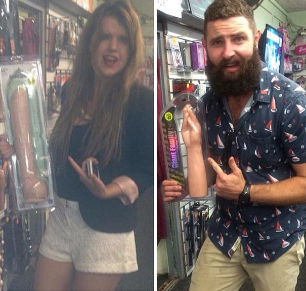這個大鬍子用最爆笑的方式重拍一些他在交友App上看到的女性自拍照。
