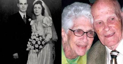 100歲的爺爺對相伴73年死去的老伴悄悄講了一句話,然後在28小時後跟她一起走了。