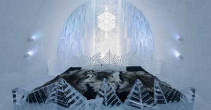 這間花8個禮拜建造,3個月融化的「冰雪酒店」,會實現你的迪士尼夢想!