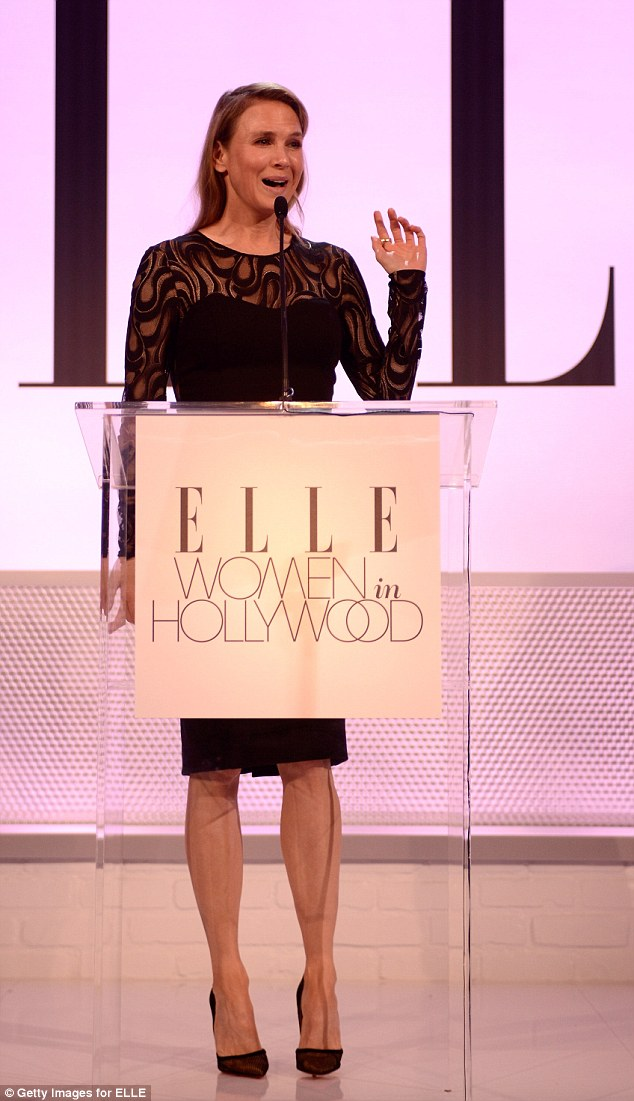 Behind the mic! The Oscar winner captivated the audience at the glamorous event