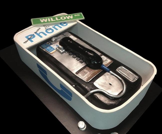 公用電話蛋糕