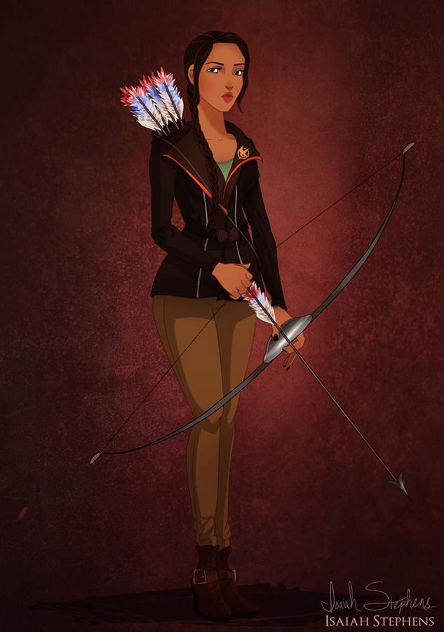《風中奇緣》寶嘉康蒂公主 扮演《飢餓遊戲》的凱妮絲 (Pocahontas as Katniss Everdeen from The Hunger Games)