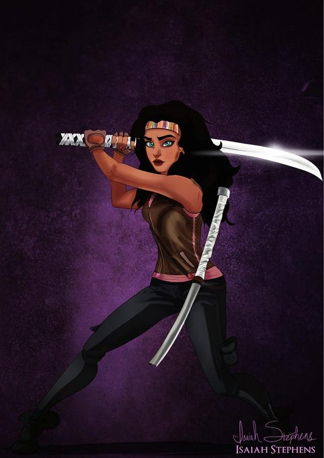 《鐘樓怪人》愛絲梅拉達 扮演《陰屍路》的Michonne  (Esmeralda from The Hunchback of Notre Dame as Michonne from The Walking Dead)