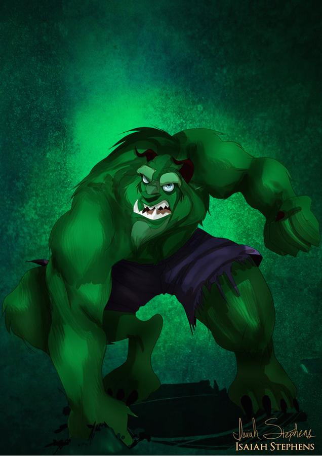 《美女與野獸》野獸 扮演 浩克 (The Beast as The Hulk)