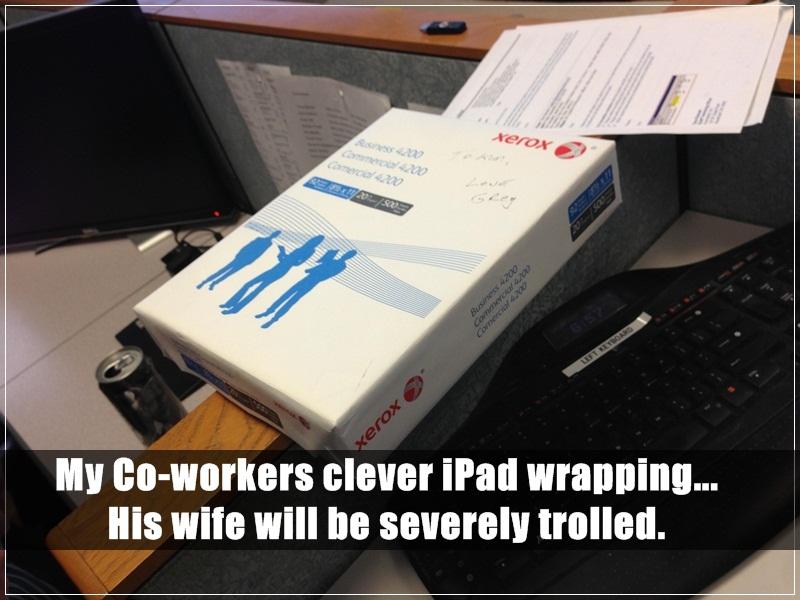 21. 我同事聰明的iPad包裝,他老婆一定會完全上當。