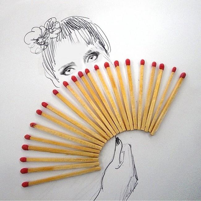 這名藝術家的創作真的太可愛了,用一些最平凡不過的東西做出這些超天才的小作品。