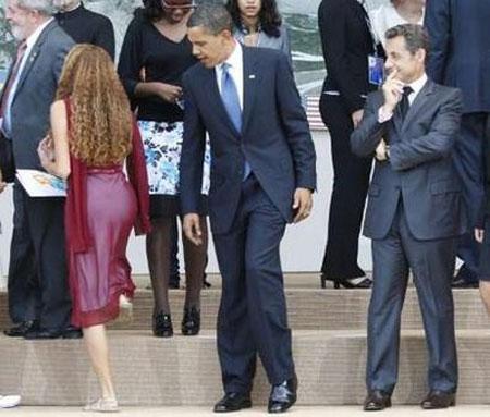 4. 兩位總統 (美國和法國)!請專心~ (他們在看的Mayora Tavares當時只有16歲呢)