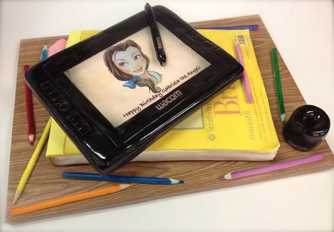 Sketchbook and tablet.