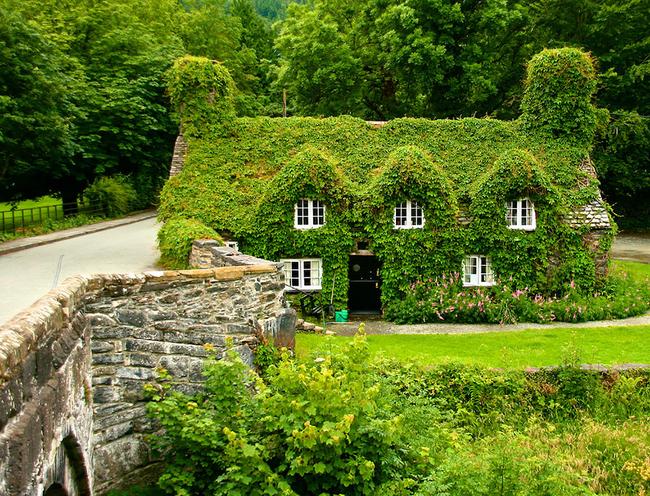 13)涂Hwnt I'r邦特茶室 - 兰鲁斯特,北威尔士。