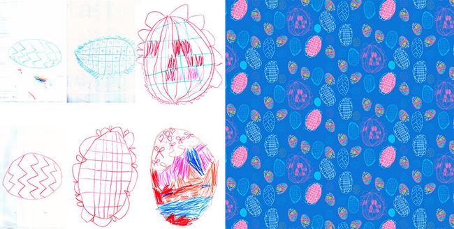 這個復活蛋的設計是不是真的很適合當禮物包裝紙啊?