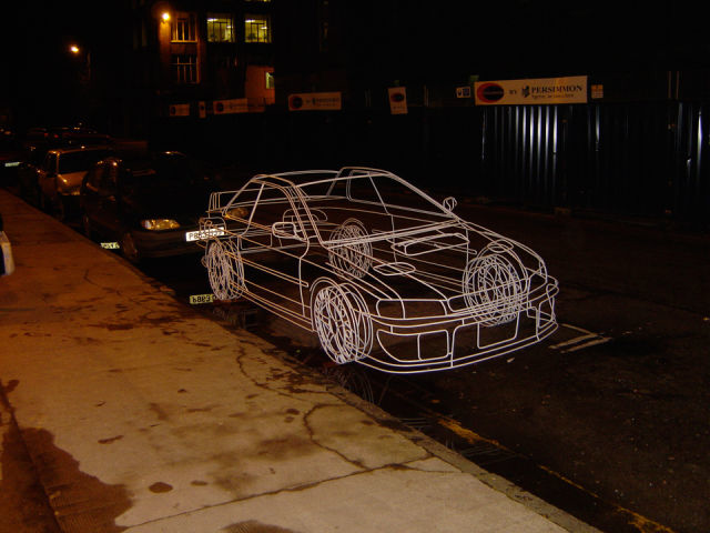 28. 線條車子。