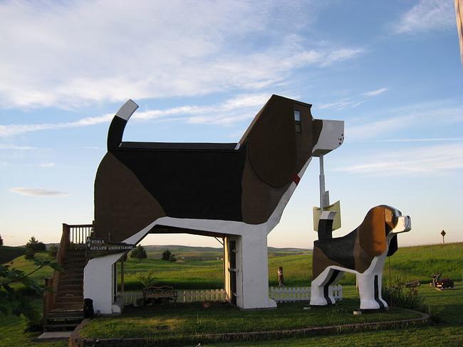 美國 愛達荷州,狗吠叫公園飯店 (Dog Bark Park, Cottonwood, Idaho)