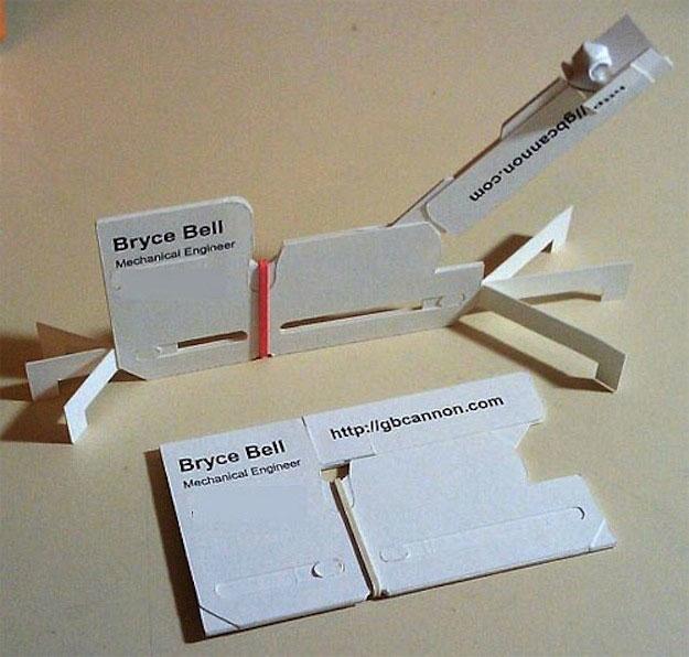 18.) 很明顯,這是機械工程的名片。