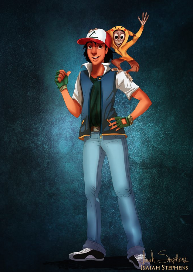 《阿拉丁》阿拉丁和阿布 扮演 小智和皮卡丘 (Aladdin and Abu as Ash Ketchum and Pikachu from Pokemon)
