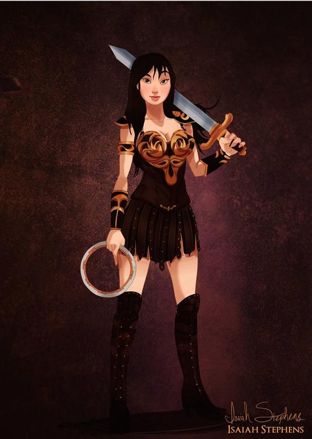 花木蘭 扮演《齊娜武士公主》的齊娜 (Mulan as Xena, Warrior Princess)