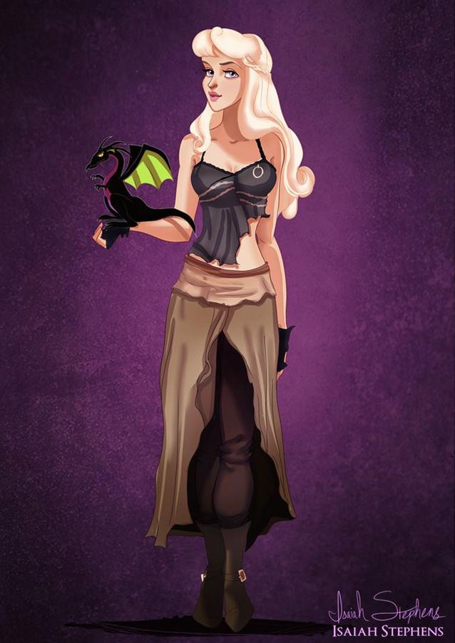 《睡美人》奧蘿拉公主 扮演《冰與火之歌:權力遊戲》丹妮莉絲.塔格利安 (Aurora from Sleeping Beauty as Daenerys Targaryen)
