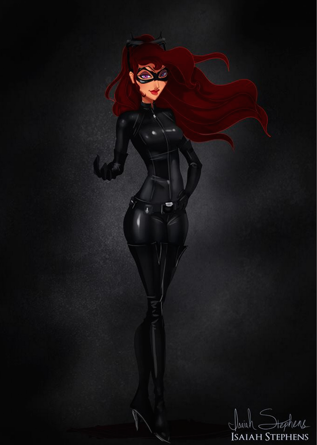 《大力士》蜜格拉 扮演 貓女 (Megara from Hercules as Catwoman)
