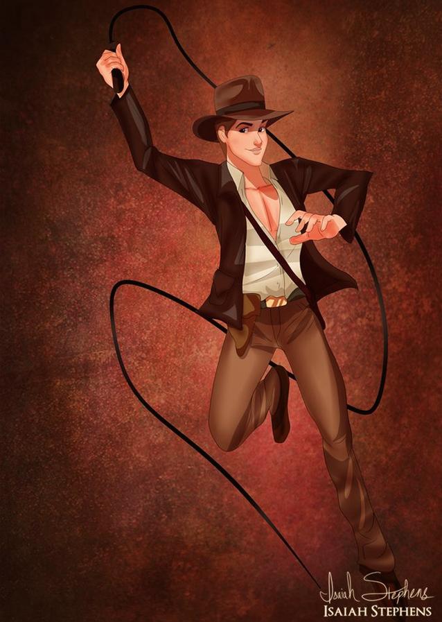 《睡美人》菲利浦王子 飾演《法櫃奇兵》印第安那瓊斯 (Prince Philip from Sleeping Beauty as Indiana Jones)