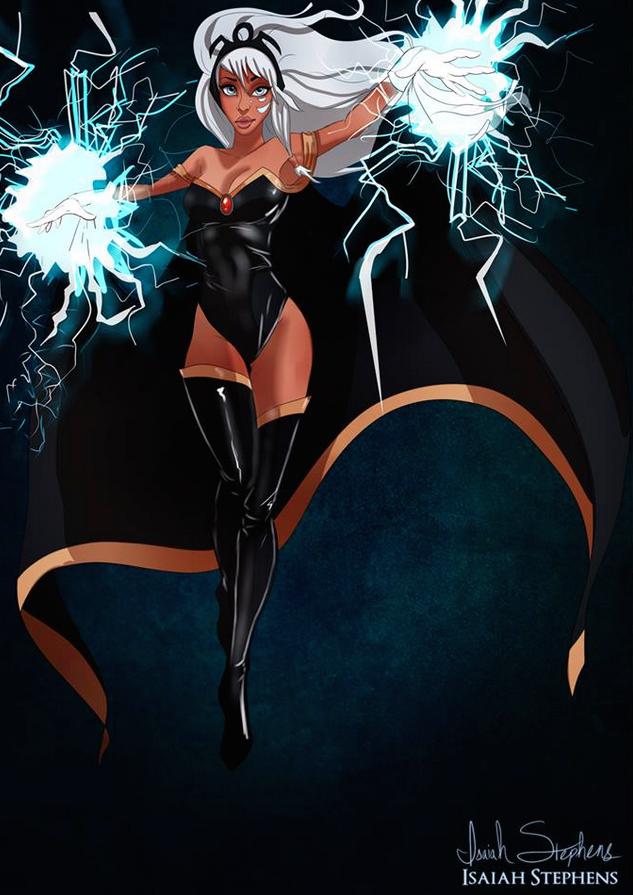 《亞特蘭提斯:失落的帝國》Kida 飾演《X戰警》的暴風女 (Kida from Atlantis: The Lost Empire as Storm from X-Men)