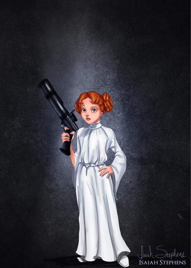《小飛俠》溫蒂 扮演《星際大戰》的莉亞公主 (Wendy Darling as Princess Leia)