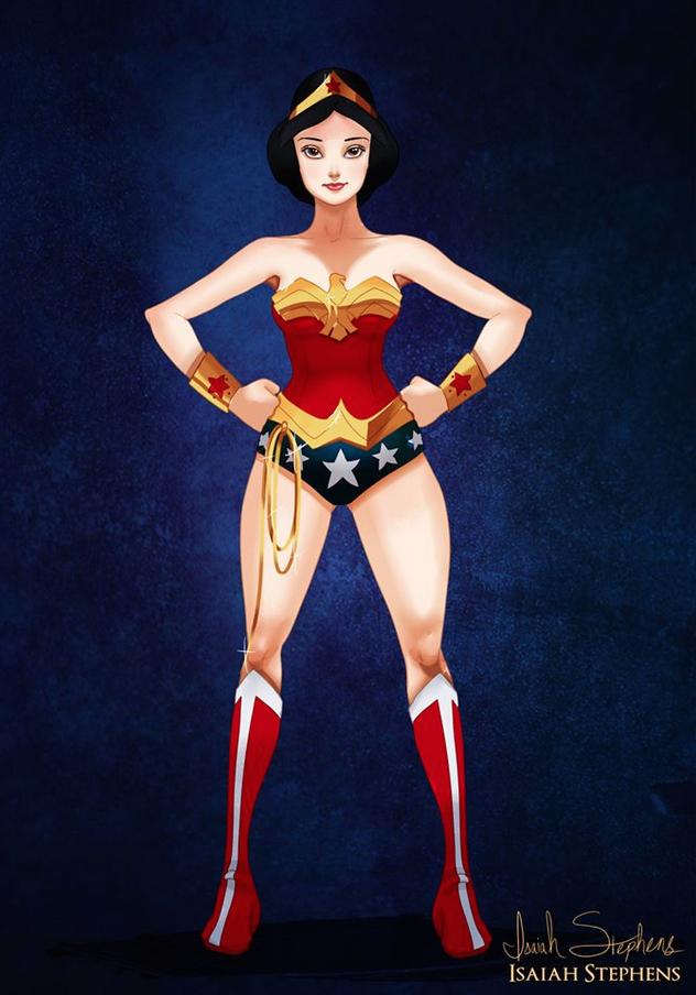 白雪公主 扮演 神力女超人 (Snow White as Wonder Woman)