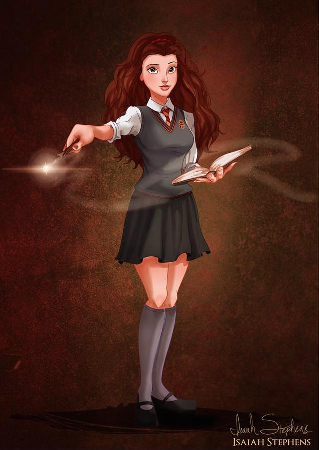 《美女與野獸》貝兒 扮演《哈利波特》的妙麗 (Belle from Beauty and the Beast as Hermione Granger from Harry Potter)