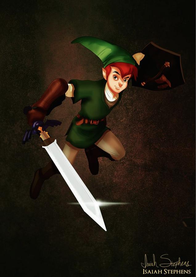 《小飛俠》彼得潘 扮演《薩爾達傳說》的林克 (Peter Pan as Link from Zelda)