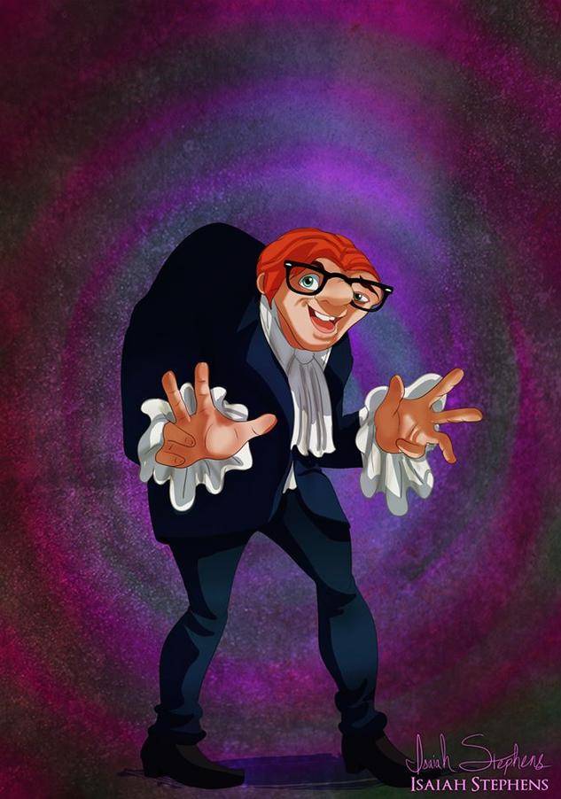《鐘樓怪人》加西莫多 扮演《王牌大賤諜》的Austin Powers (Quasimodo from The Hunchback of Notre Dame as Austin Powers.)