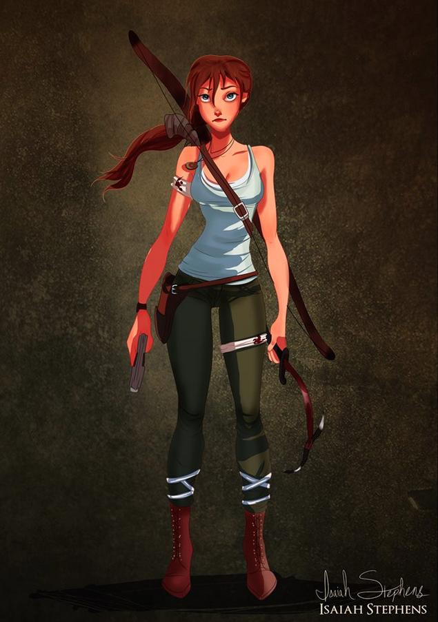 《泰山》珍妮 扮演 《古墓奇兵》的蘿拉·卡芙特 (Jane from Tarzan as Lara Croft)