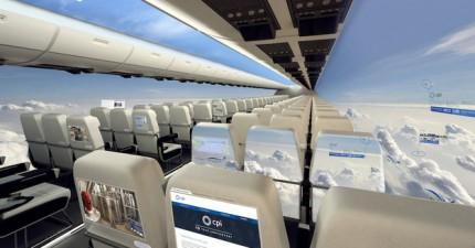 這就是10年後的飛機會有的嶄新樣貌!等等,窗戶都跑哪去了?
