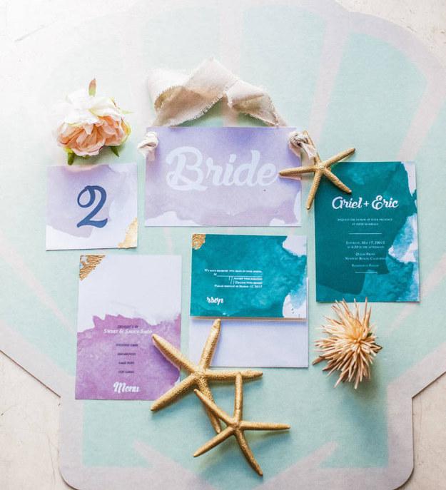 當一個準新娘太愛《小美人魚》,她的婚禮就會變成這樣。所有細節都沒放過!