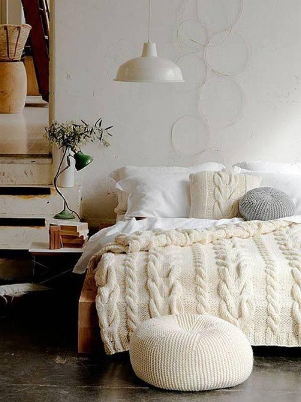 2. 把你的床鋪變成一件大毛衣。