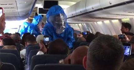 有人在飛機上開玩笑說他有伊波拉病毒。他接下來的下場讓我一點都笑不出來。