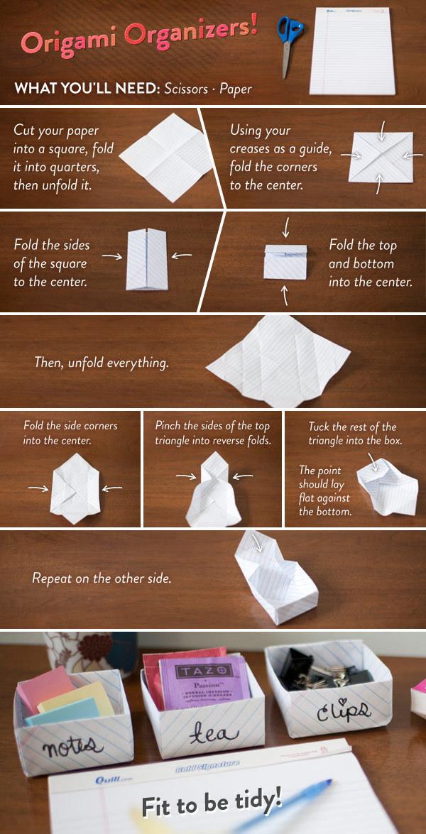 36. DIY摺紙做置物盒。