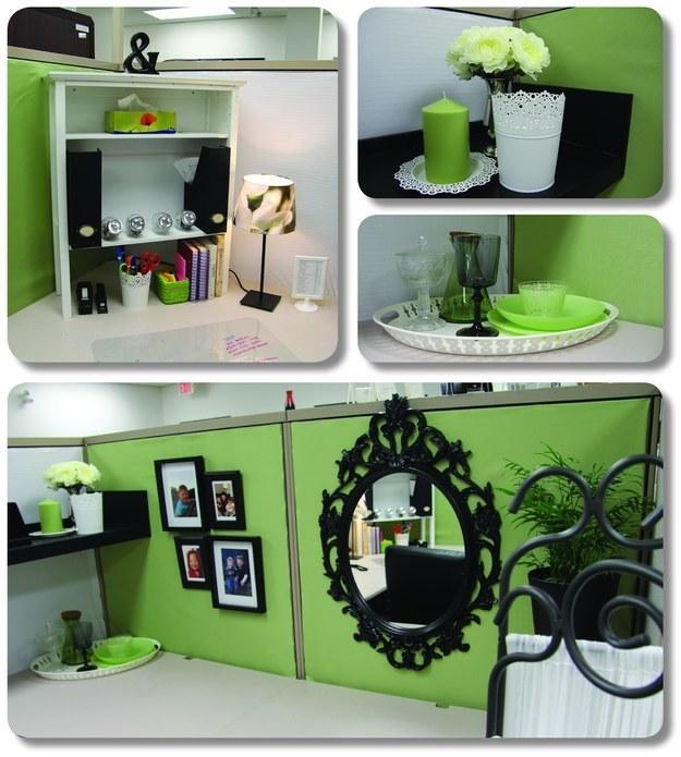 44. 加個鏡子讓你的小辦公桌看起來寬敞一些。