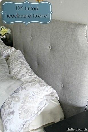 12. 你不用花大錢去買華麗的床頭板,可以自己DIY。