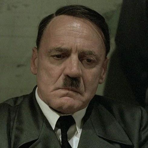 12. 布魯諾·岡茨飾演《帝國毀滅》的希特勒 (Bruno Ganz as Adolf Hitler in Downfall)