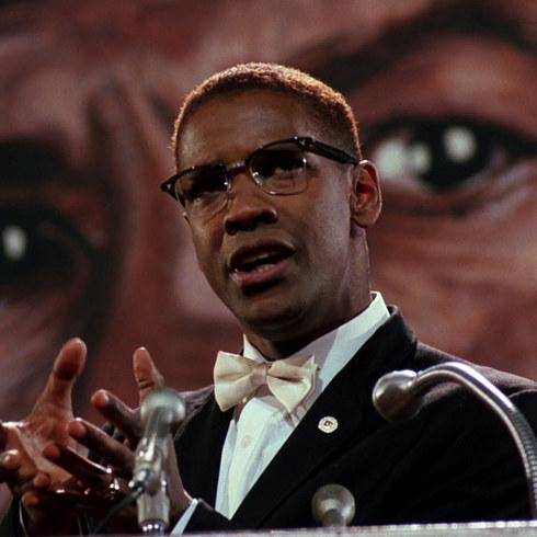 6. 丹澤爾·華盛頓飾演《麥爾坎·X》的麥爾坎·X (Denzel Washington as Malcolm X in Malcolm X)