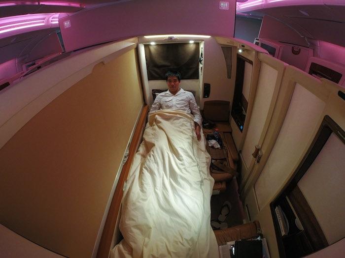 而單人床就有很舒適的空間可以休息了。
