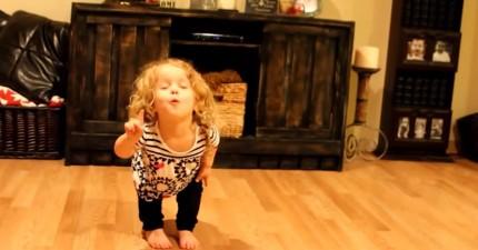 請注意:這個侏儒症小女孩120%投入跳的舞,會瞬間把你的心融化掉!