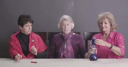 3位老奶奶第一次嘗試吸大麻...她們會有什麼反應呢?