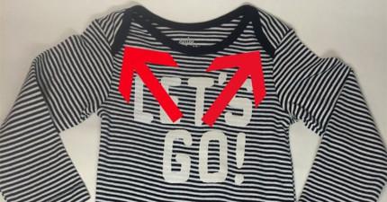原來我們一直都錯了!寶寶衣服上的肩線反折原來不只是為了設計好看而已!