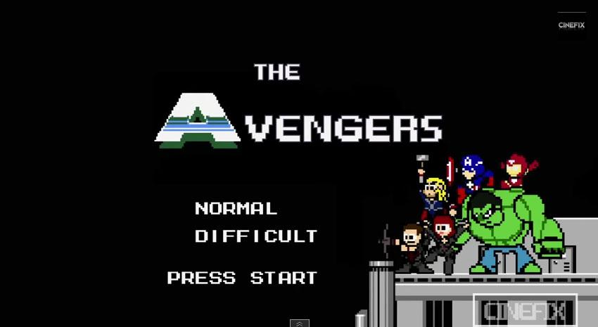 有人把《復仇者聯盟》整部電影變成20年前的電動遊戲。每一幕你都認得出來嗎?