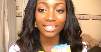 很多人問她到底是怎麼讓牙齒這麼白。其實真的很簡單!