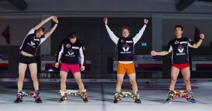 4個猛男,嘗試達到全世界最難做的事情...那就是在冰上不靠手就把褲子穿上!