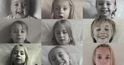 爸爸從女兒剛出生到14歲,每週拍攝她的樣子,然後製作成這支不可思議的影片。
