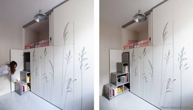 這間在巴黎的小房間,只有2.4坪大,一般來說,根本沒辦法住人。