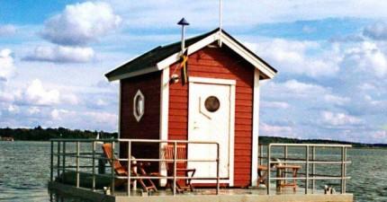 這真的不是湖面上的一個小屋。重點是在湖底下的...旅館?!